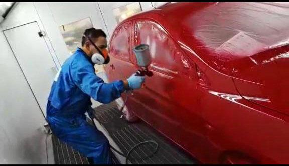 pintura roja monocapa