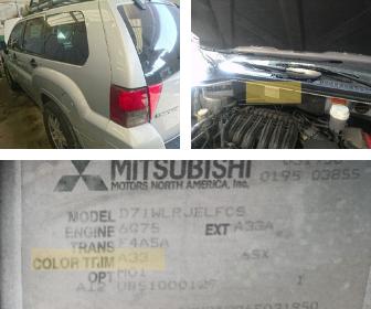 codigo de pintura Mitsubishi Endeavor