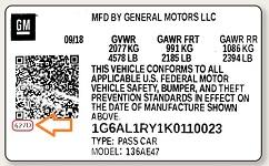 Ubicación código GM