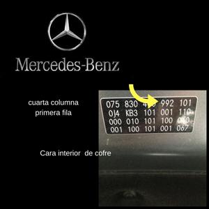 ubicación del código de pintura en mercedes benz