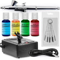 Kit de Decoración de Pasteles Airbrush-Aerógrafo, compresor, y 4 Colores Chefmaster