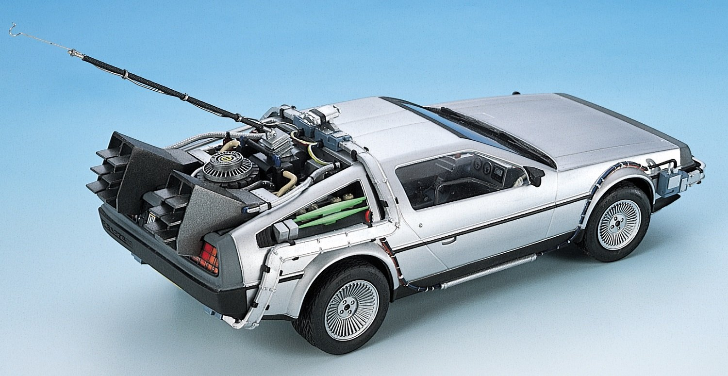 delorean dmc-12 siñver satin