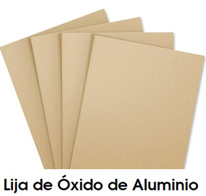 lija de oxido de aluminio