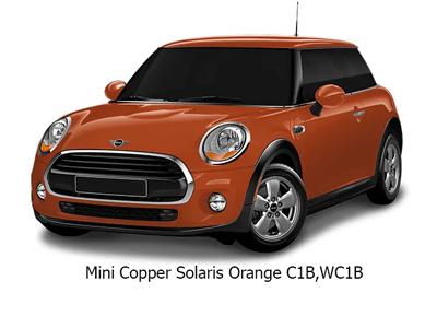 Color Mini Cooper Naranja
