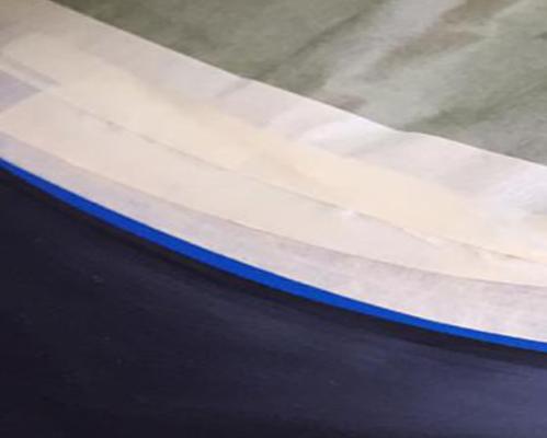 Uso de cinta fine line