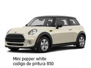 mini cooper color blanco