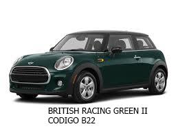 mini cooper verde BRITISH RACING GREEN II