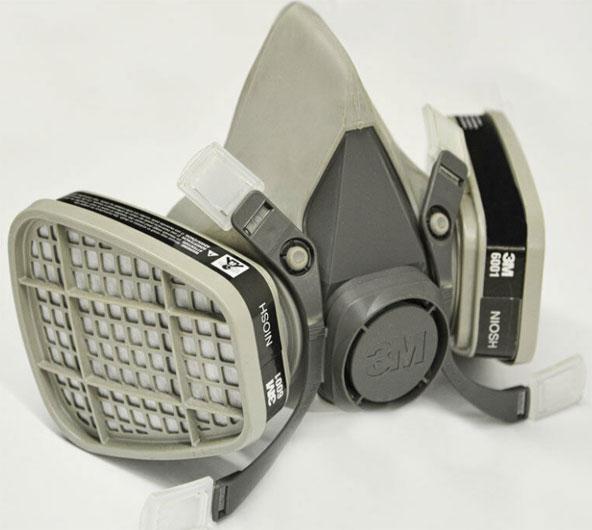 Respirador De Pieza Facial media de 3M 6200